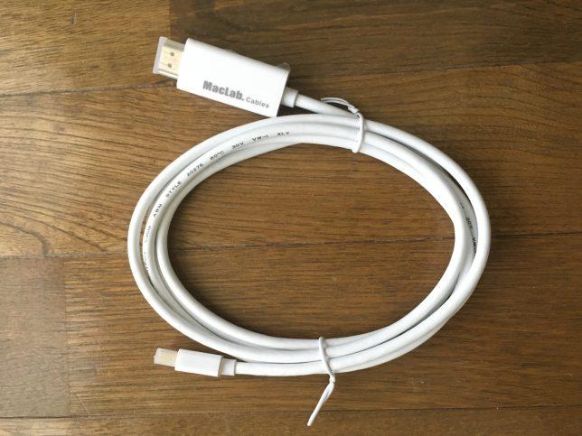 MacLabのMiniDP→HDMI変換ケーブルを開封