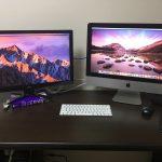 iMac 4K デュアルディスプレイ化完了!