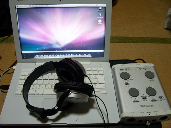 MacBookとオーディオインターフェース