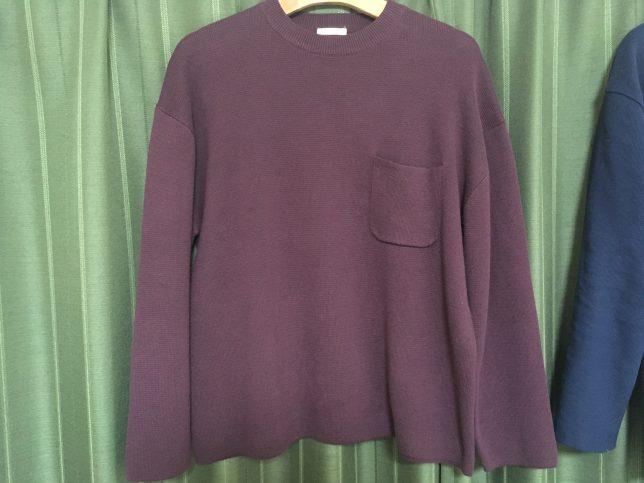 GUビッグクルーネックセーター