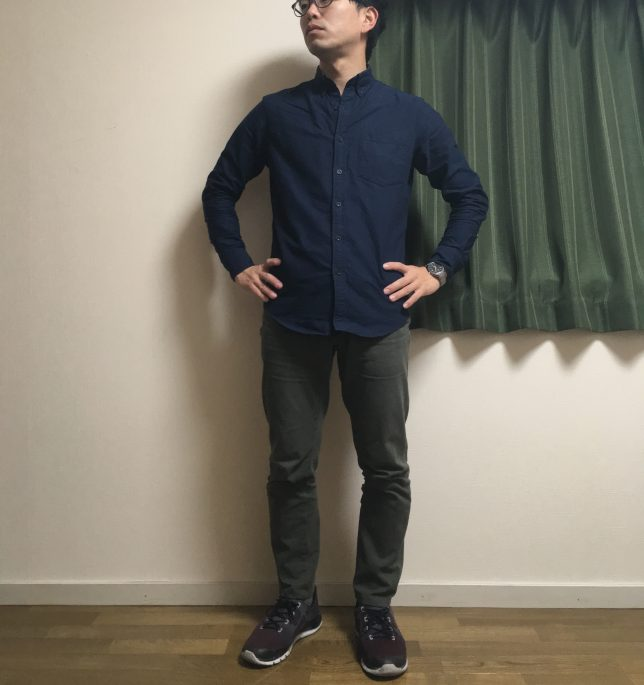 N.hoolywoodシャツの着用画像