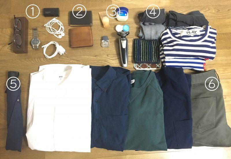 東京旅行の荷物