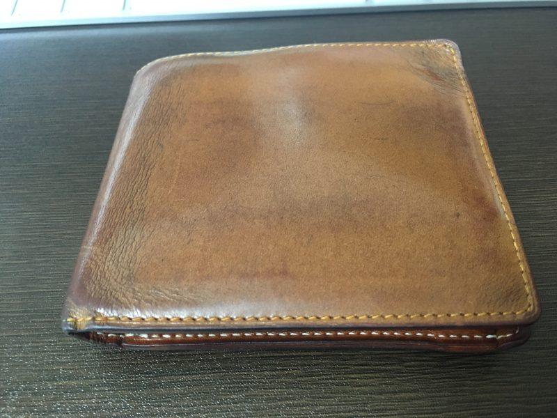 GANZO シンブライドル2つ折り財布 キャメル