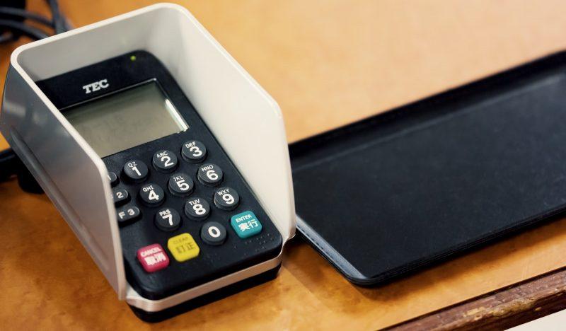 クレジットカードの端末
