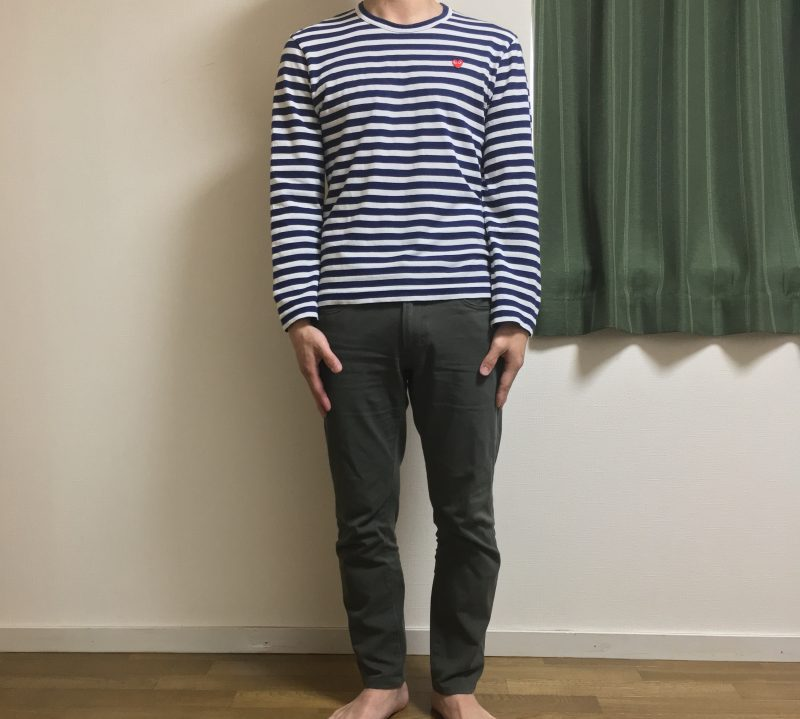 PLAYコムデギャルソン メンズSサイズ長袖の着用画像