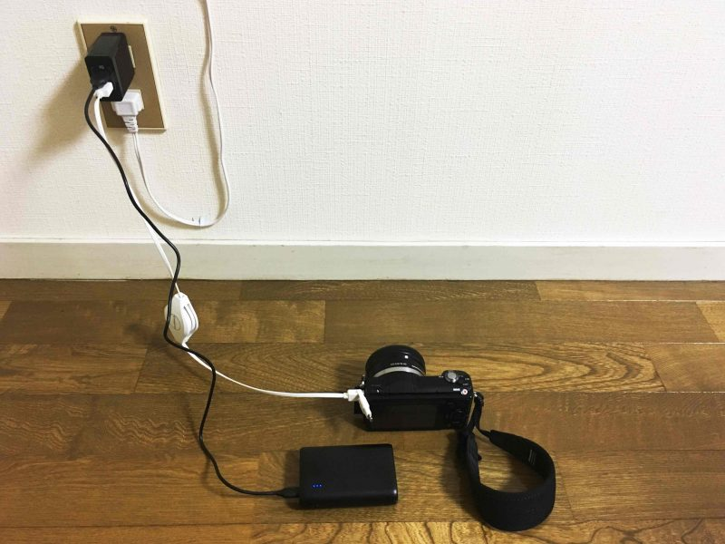 Ankerの急速充電器で充電