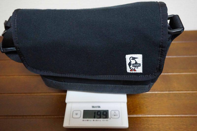 チャムススモールカメラショルダーの重量
