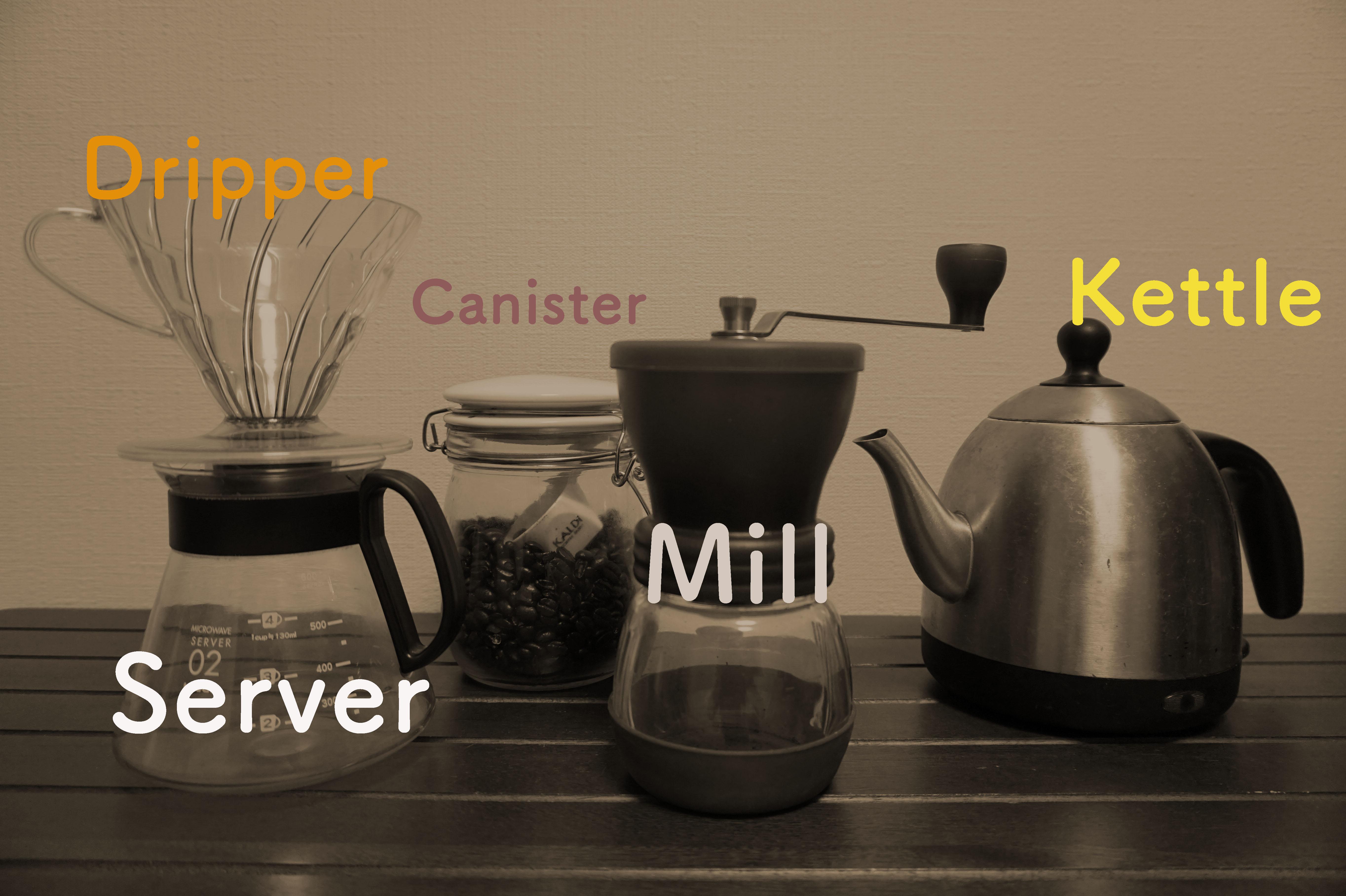 コーヒーの道具を紹介