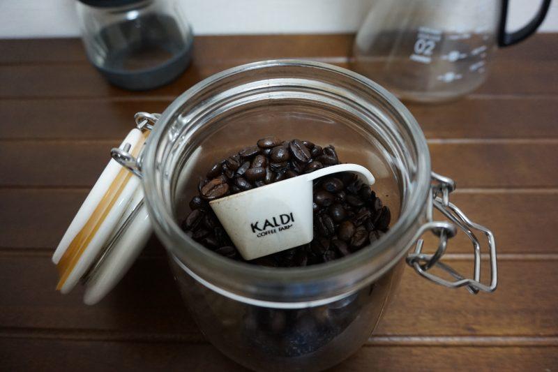 ニトリのキャニスターにコーヒー豆