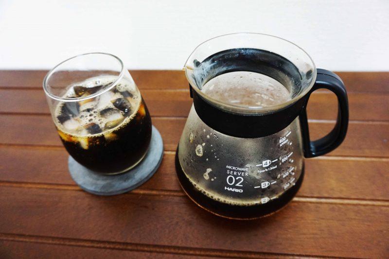 急冷ドリップ式で淹れたアイスコーヒー