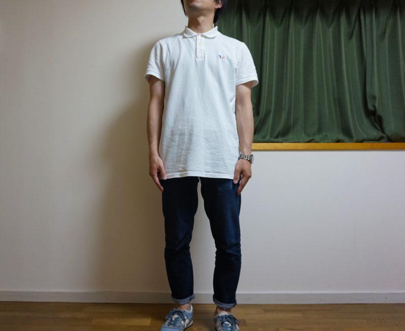 メゾンキツネポロシャツSサイズの着用画像