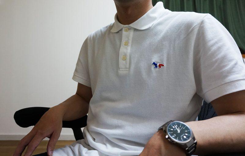 アーロンチェアとキツネポロシャツ