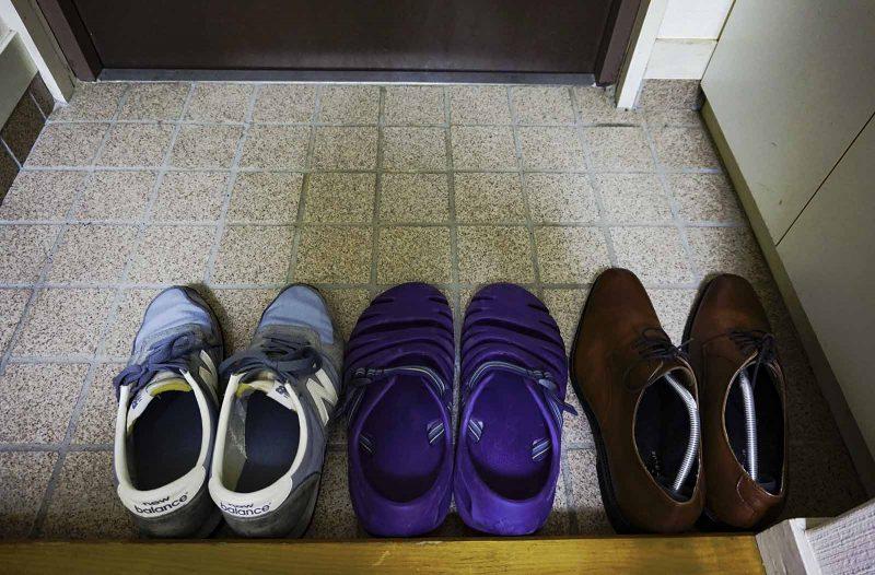 ミニマリストの玄関 靴は3足