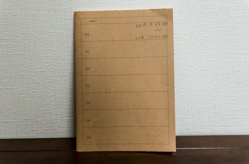 再生紙ノートウィークリーを利用した日記兼家計簿