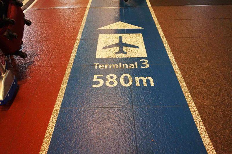 成田空港第3ターミナルへの道のり