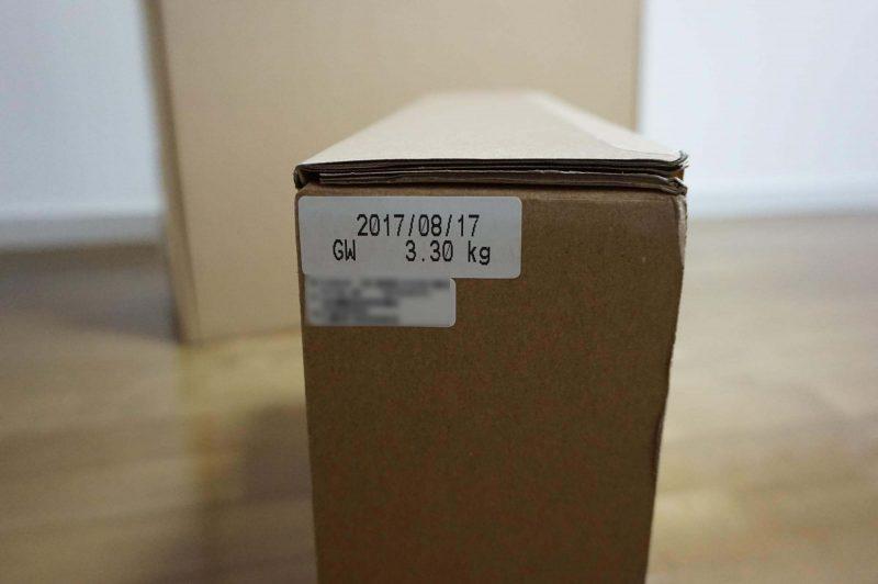 梱包重量は3.3kg