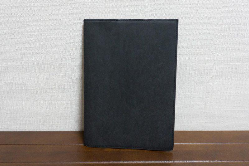 ジーンズのラベル素材で作ったノートカバー