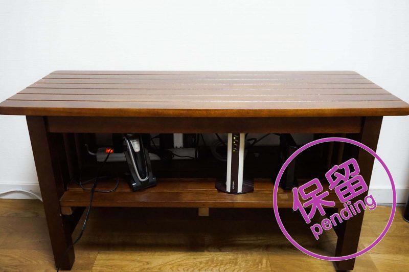 B-COMPANYで購入した木製ベンチ
