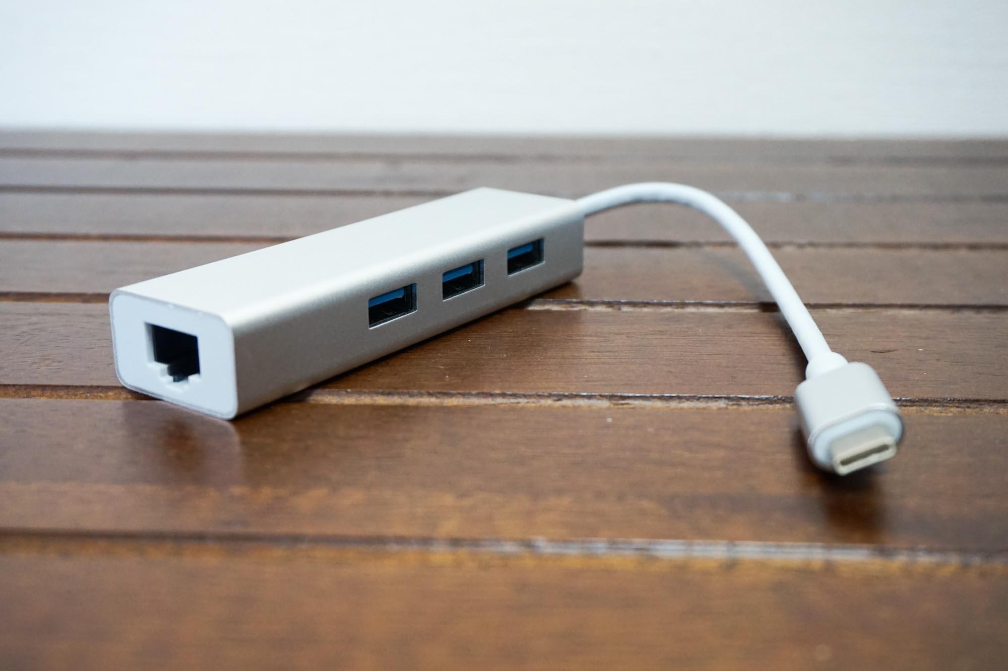 MacBookProが有線LAN接続可能に!Ethernetポート付きのUSBハブを購入【通信速度比較あり】