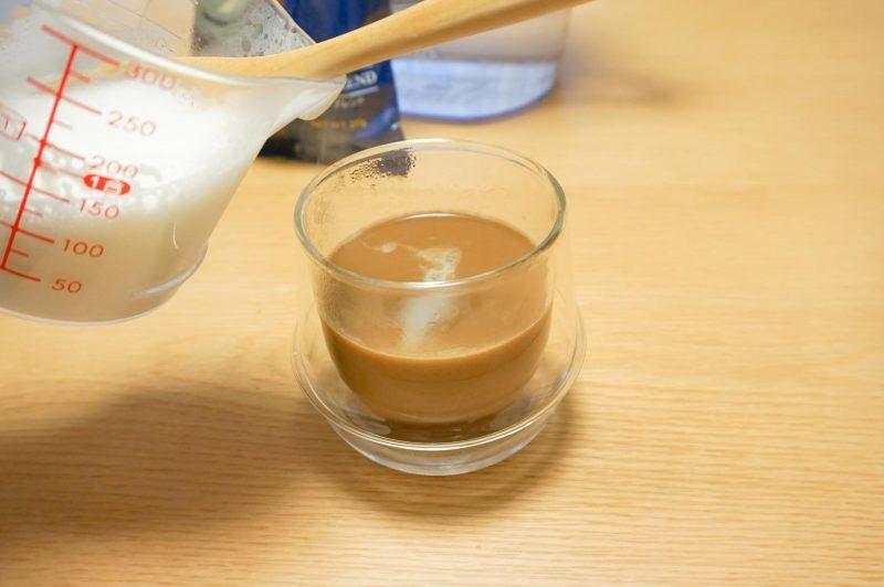 ミルクの注ぎ方