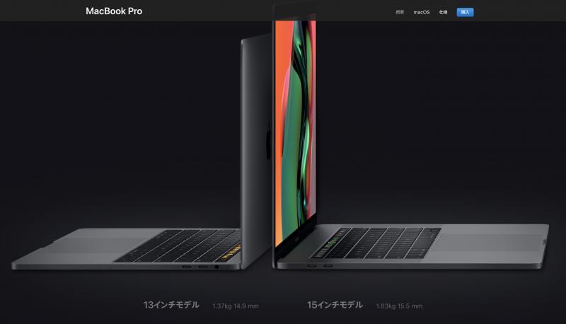 MacBookPro重さ